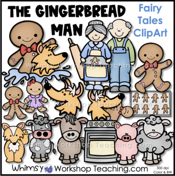 Gingerbread Man Clip Art - Whimsy Workshop Teaching