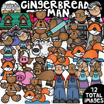Gingerbread Man Clipart {Reading Clipart}