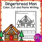 Gingerbread Man Color Cut and Paste Sentences