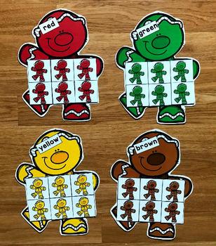 Gingerbread Man Color Sorting Mats