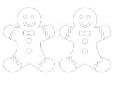 Gingerbread Man Coloring Pack