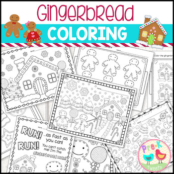 Gingerbread Man Coloring Pages Teaching Resources | Teachers Pay ...