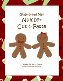 Gingerbread Man Common Core Number Cut & Paste
