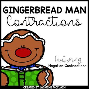 Gingerbread Man Contractions Bundle