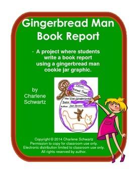 Gingerbread Man Cookie Jar Book Report