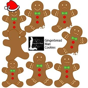 Gingerbread Man Cookies Clipart
