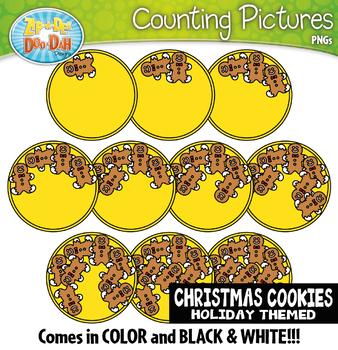Gingerbread Man Cookies Counting Pictures Clipart {Zip-A-Dee-Doo-Dah Designs}