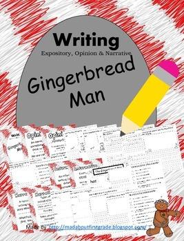 Gingerbread Man Cookies Writing Informative Opinion Narrative CCSS