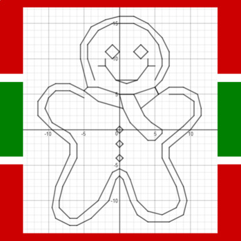 Christmas - Gingerbread Man - A Coordinate Graphing Activity