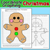 Gingerbread Man Coordinate Graphing Picture - Christmas Math Activity