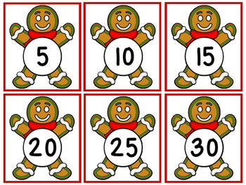 Gingerbread Man Counting & Letter Matching