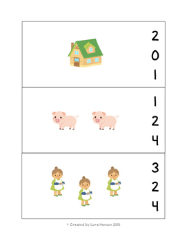 Gingerbread Man Count and Clip Cards - Set of 10