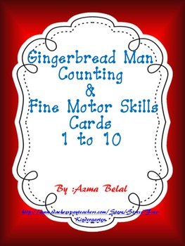 Gingerbread Man Counting & Fine Motor Skills Cards, Number