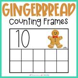 Gingerbread Man Counting Frames   Mini Eraser Math Center