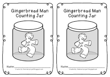 Gingerbread Man Counting Jar    ***Also in my Gingerbread Man MEGA PACK***