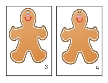 Gingerbread Man - Counting Mats #1-10