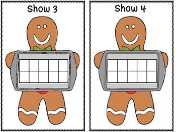 Gingerbread Man Counting Mats