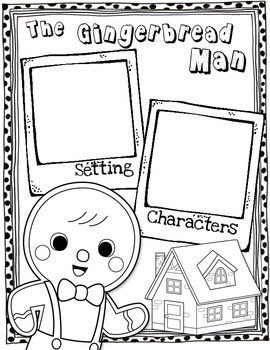 Gingerbread Man Craft, Close Read and Writing