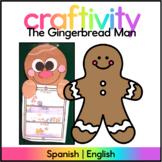 Gingerbread Man Craftivity - Spanish & English