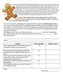 Gingerbread Man Creative Writing with Rubric