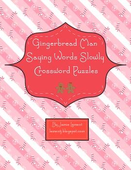 Gingerbread Man Crossword Puzzle