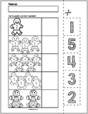 Gingerbread Man Cut & Match Worksheets   Numbers 1-5