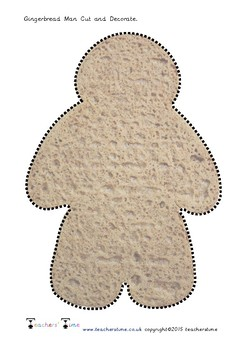 Gingerbread Man Cut and Decorate
