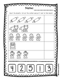 Gingerbread Man Cut and Paste 1-5 and 6-10