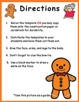 Cut and Paste Craft Gingerbread Man