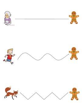 Gingerbread Man Cutting Activity