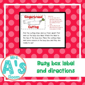 Gingerbread Man Cutting Busy Box