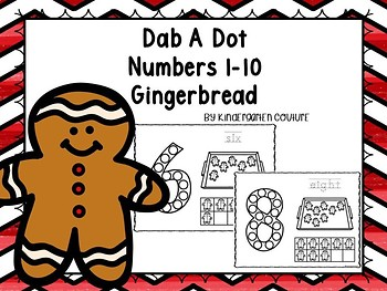 Gingerbread Man Dab A Dot Numbers 1-10