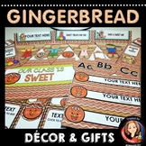 Gingerbread Man Holiday Classroom Decor and Gift Ideas