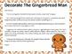 Gingerbread Man Do Together Parent/Child Homework Activity