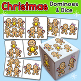 Gingerbread Man Dominoes and Dice Game - Christmas Activities