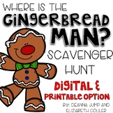 Gingerbread Man Editable Scavenger Hunt Centers
