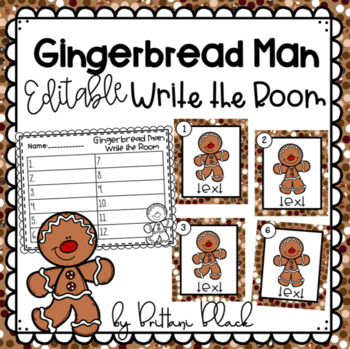 Gingerbread Man- Editable Write the Room