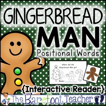 Gingerbread Man Positional Words Emergent Reader