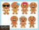 Gingerbread Man Emoji Clip Art
