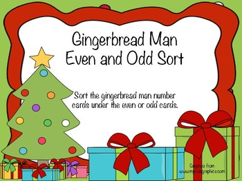 Gingerbread Man Even and Odd Sort