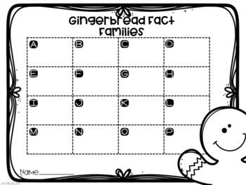 Gingerbread Man Fact Families