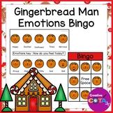 Gingerbread Man Activities Feelings and Emotions Bingo