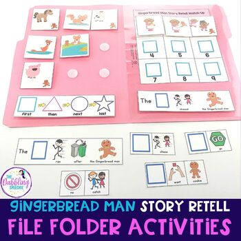 Gingerbread Man File Folder Activities