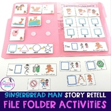 Gingerbread Man File Folder Activities