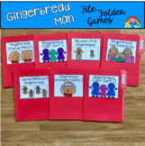 Gingerbread Man File Folder Games