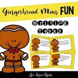 Gingerbread Man Fun Writing Task Cards