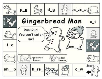 Gingerbread Man Game Board