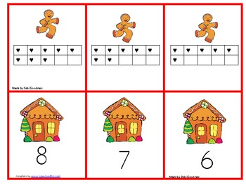 Gingerbread Man  Game--Match 0-20 tens frames and numbers