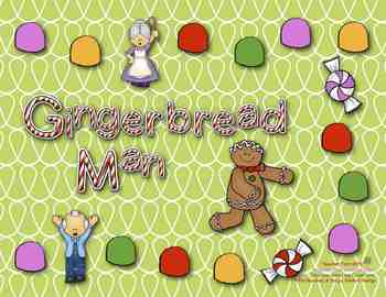 Gingerbread Man Game: Sight Words, Sentences, Blends and Digraphs