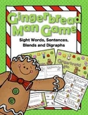 Gingerbread Man Game Sight Words, Sentences, Blends and Digraphs